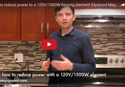 When and how to reduce power to a 1500W element