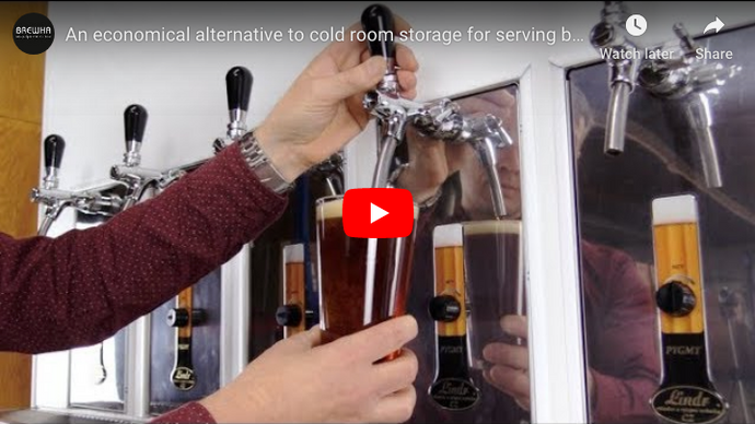 An economical alternative to cold room storage for serving better beer