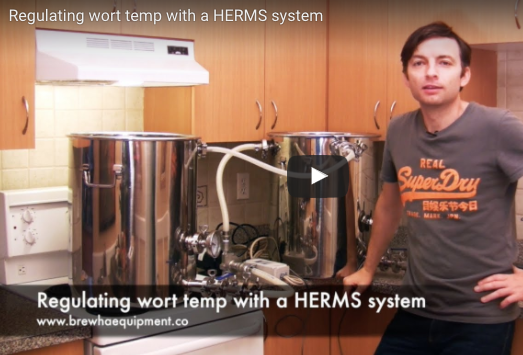 Regulating mash temperature with a HERMS system