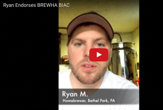 Ryan M. (Home brewer, Bethel Park, PA) endorses the BIAC