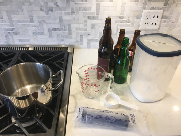 How to add priming sugar to bottled beer for carbonation