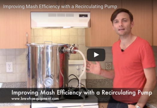 Improving mash efficiency with a recirculating pump