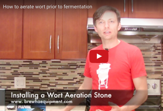 How to install the Wort Aeration Stone and oxygenate wort