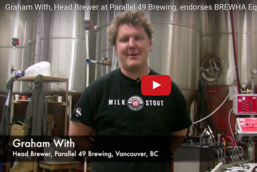 Graham With (Brewer, Parallel 49 Brewing Co) endorses BREWHA