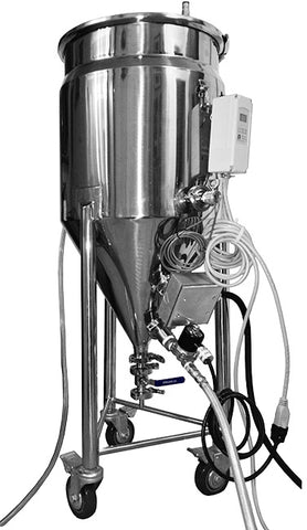 BREWHA jacketed boil kettle conical fermenter 3-in-1