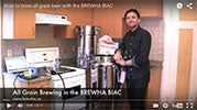 Brewing all grain beer in the BIAC