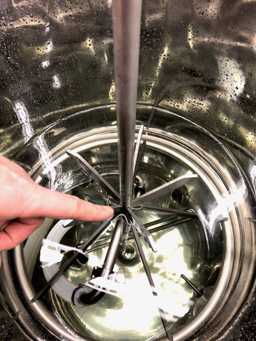 fill water in keg cleaner to this level