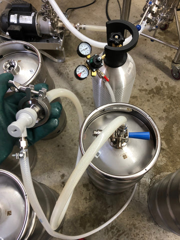 adding co2 to purge kegs