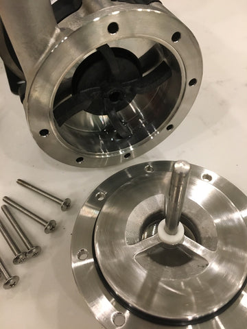 March pump impeller and pin