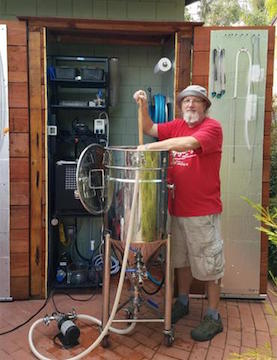 Keith with his BIAC complete homebrewery