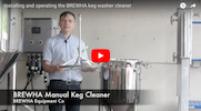 Manual keg washer and cleaner