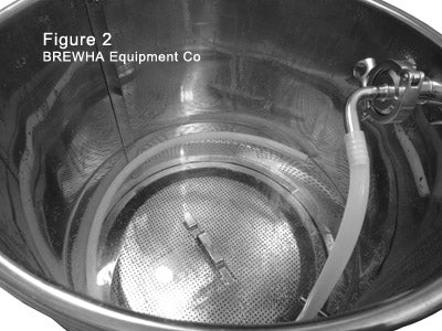 BREWHA Stainless steel mash tun with sparge arm for recirulating wort