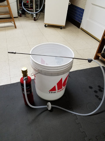 aerating wort with oxygen