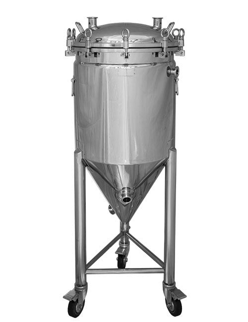 Stainless conical fermenter for brewing beer