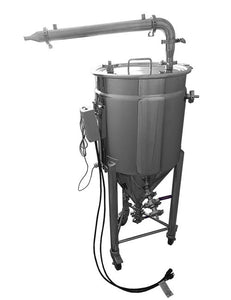 pot still jacketed conical fermenter BIAC and shotgun condenser