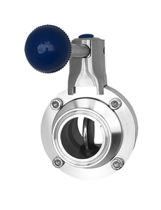 tri clover clamp butterfly valve sanitary inside view