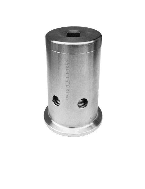 Pressure relief valve for brewing beer fermenter