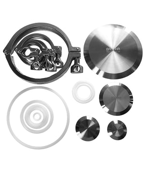 sanitary clamp cap and gasket