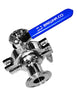 "stainless sanitary tri clamp tri clover compatible 1.5"" valve"