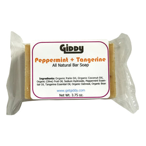 Peppermint + Tangerine Natural Bar Soap - Giddy - All Natural Skin Care