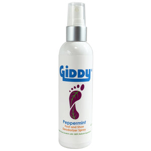 GIDDY Peppermint Foot & Shoe Spray - Giddy - All Natural Skin Care