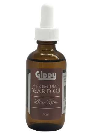 Bay Rum Premium Beard Oil - Giddy - All Natural Skin Care