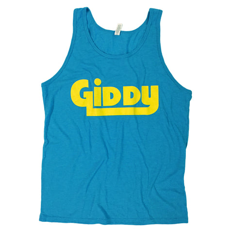 GIDDY Neon Blue Unisex Tank Top (XL, L, M, S, XS)