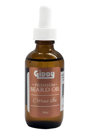 Citrus Ice Premium Beard Oil - Giddy - All Natural Skin Care
