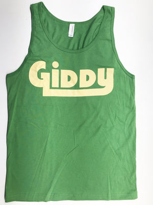 GIDDY Green / Tan Unisex Tank Top - Giddy - All Natural Skin Care