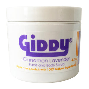 Giddy Cinnamon Lavender Face and Body Clearing Skin Scrub - Giddy - All Natural Skin Care