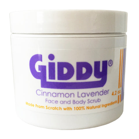 Giddy Cinnamon Lavender Face and Body Clearing Skin Scrub