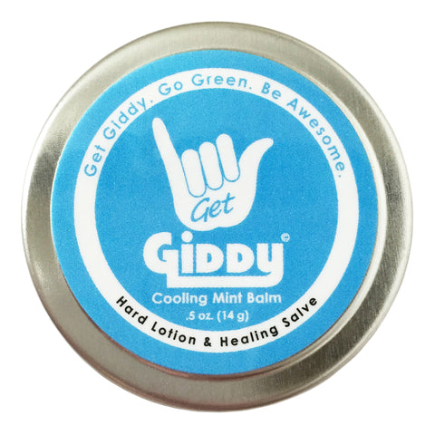GIDDY Cooling Mint Hard Hard Lotion, Balm & Salve