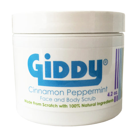Giddy Cinnamon Peppermint All Natural Face and Body Scrub