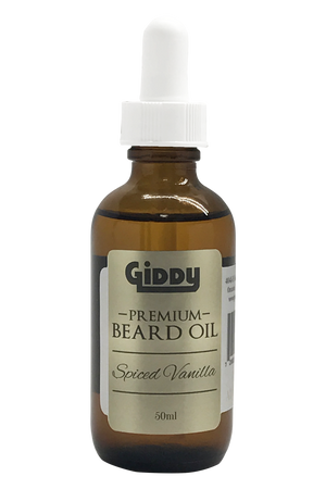 Spiced Vanilla Premium Beard Oil - Giddy - All Natural Skin Care