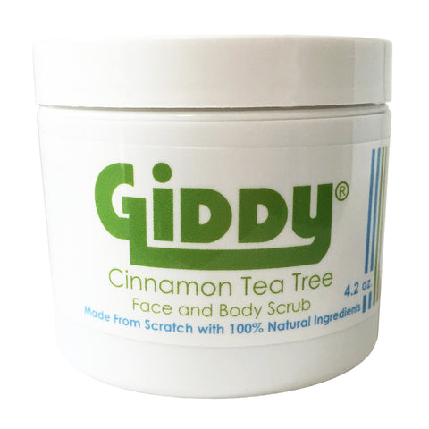 Giddy Cinnamon Face and Body Scrub with Skin Clearing Tea Tree
