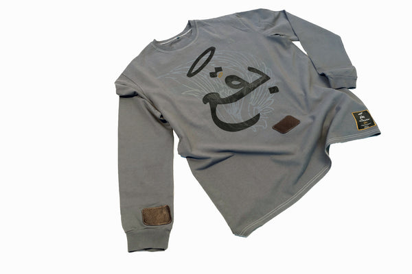 """Malak"" Angel Wing Logo Long Sleeve Tee"