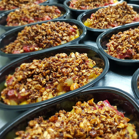 PUDDING  Rhubarb Crumble GF & VEGAN / FODMAP friendly - 200grams