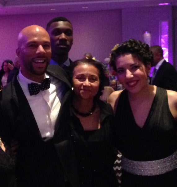 Sofia Adawy with Common and others.