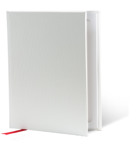 Berlin White-Ribbed StacheBook for iPad mini