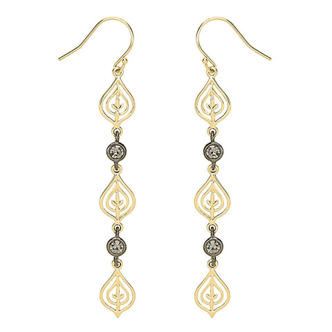 Two-Tone Teardrop Earrings
