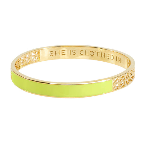 Lemon Lime Strength and Dignity Bangle