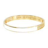 White Strength and Dignity Bangle