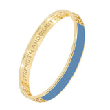 Blue Strength and Dignity Bangle