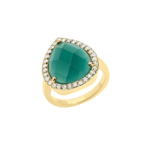 Teal Statement Ring