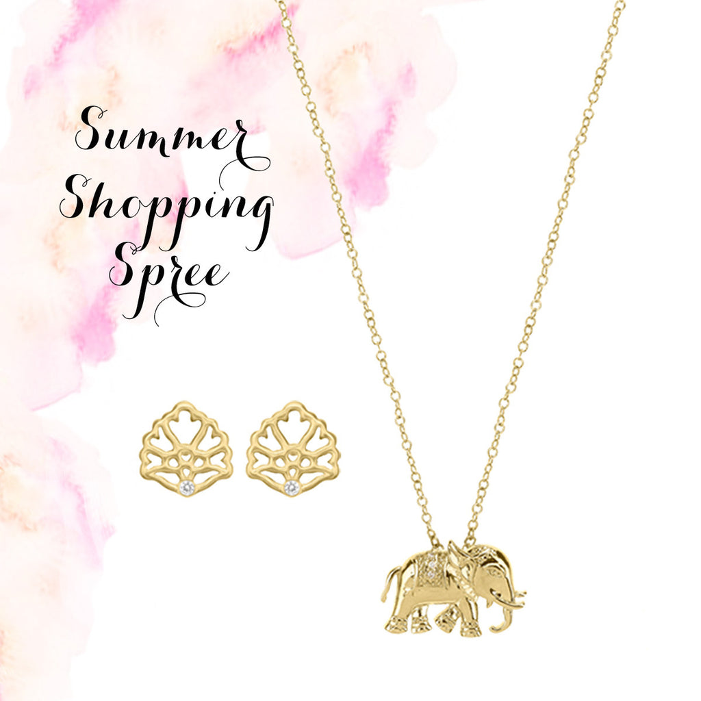 Elephant Necklace + Floral Studs = SUMMER SAVINGS