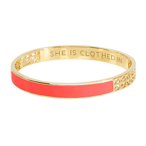 Tangerine Strength and Dignity Bangle