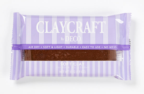 Brown - CLAYCRAFT™ by DECO® Soft Clay - DECO Clay Craft Academy Shop - 1