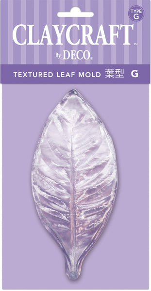 Type G. Textured Leaf Mold - CLAYCRAFT™ by DECO® - DECO Clay Craft Academy Shop