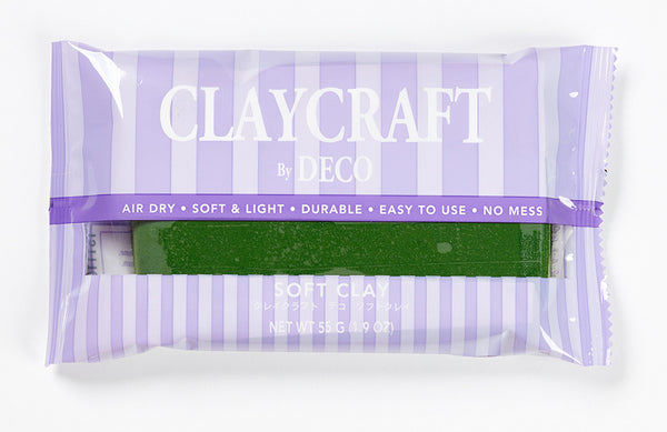 Green - CLAYCRAFT™ by DECO® Soft Clay - DECO Clay Craft Academy Shop - 1