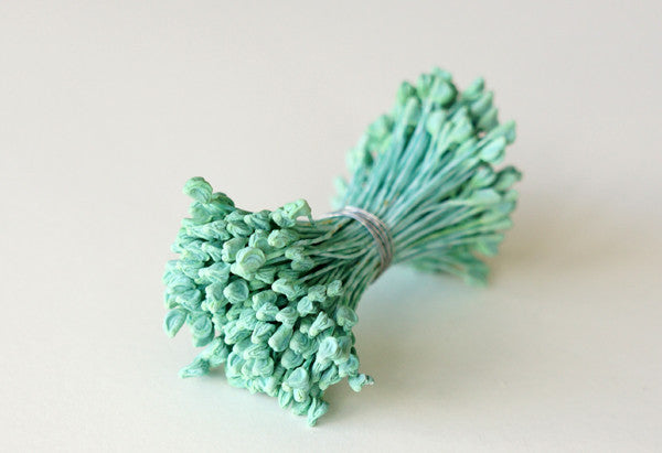 Pep03: Flat Tip Stamens Mint Teal - DECO Clay Craft Academy Shop